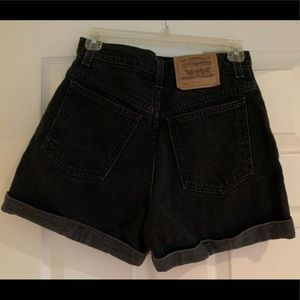 Vintage Levi's High Waisted Shorts Faded Black